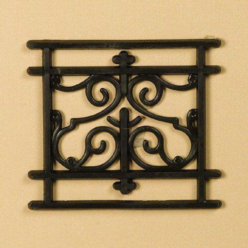 Short 1-Panel Railing, Plastic 43 x 48mm