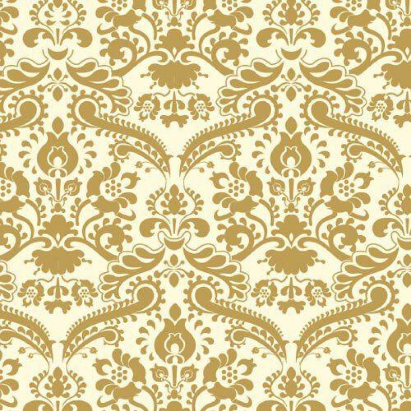 Gold Damask Wallpaper 430 x 600mm