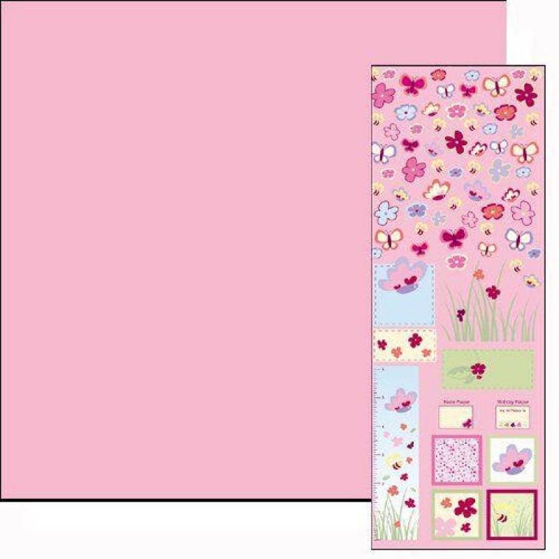 Raspberry Paper & Motif Sheet 430 x 600mm