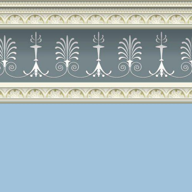 Georgian Blue Wallpaper 430 x 600mm