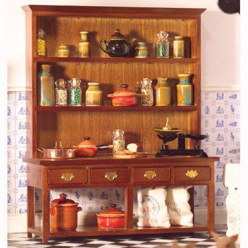 Large Dresser with Lower Shelf (W)