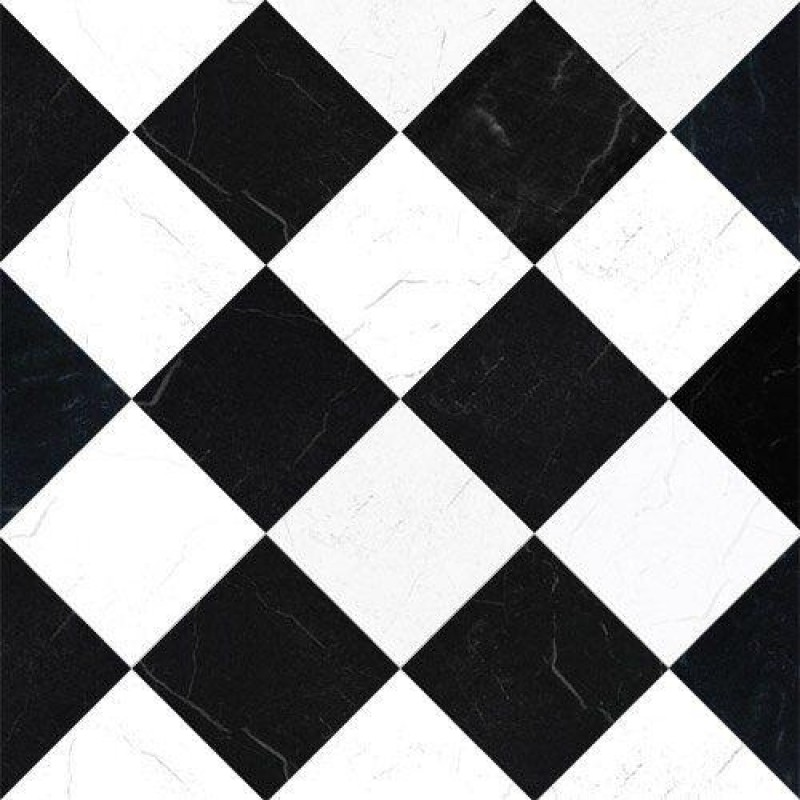 Black & White Marble Tile Paper 430 x 600mm