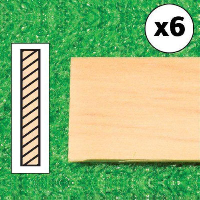 Timber Lengths, 6 pcs. 610 x 19 x 3mm