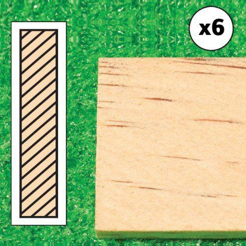 Timber Lengths, 6 pcs 610 x 25 x 5mm