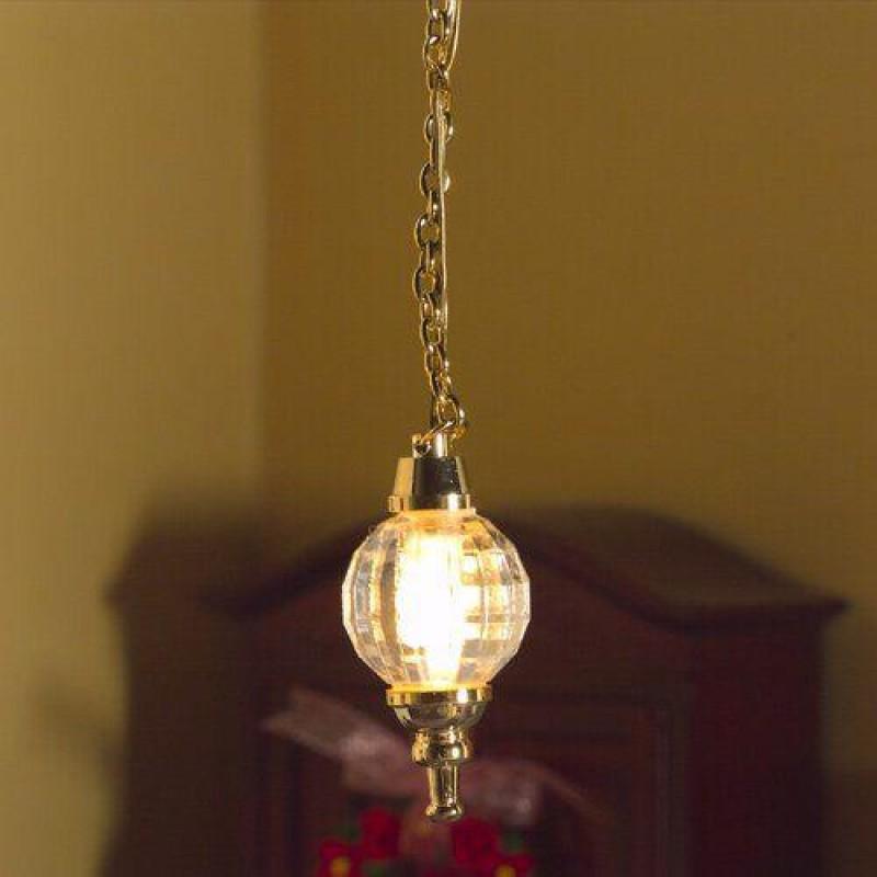 Hanging Crystal Globe Light