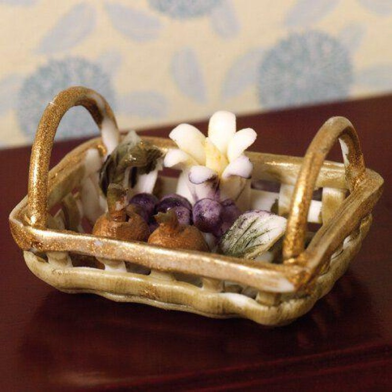 Oblong Porcelain Fruit Basket