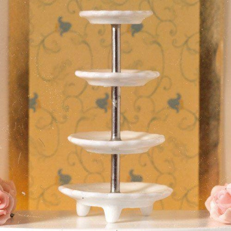 White 4-Tier Cake Stand