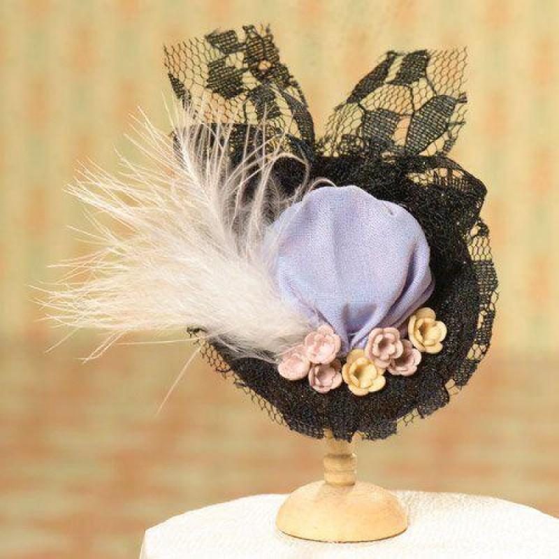 Black Lace Lavender Hat