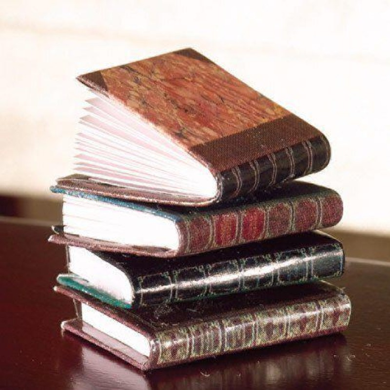 Leather-bound Books, 4 pcs