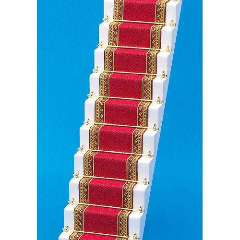 Red & Gold Edged Stair Carpet 500 x 50mm