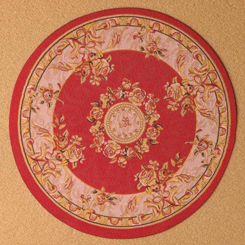 Rich Red Circular Rug 150mm