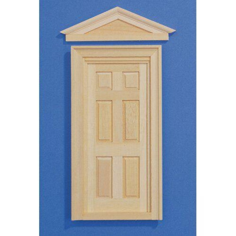 Wooden Door & Two Frames, to fit opening 182 x 82mm
