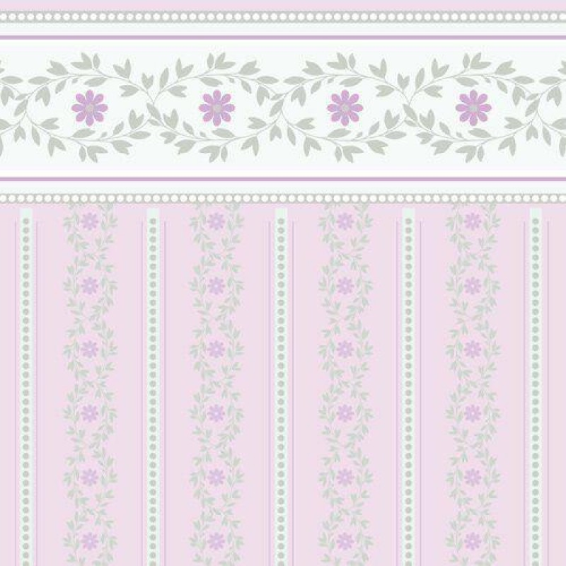 Shell Pink Posy Wallpaper 430 x 600mm