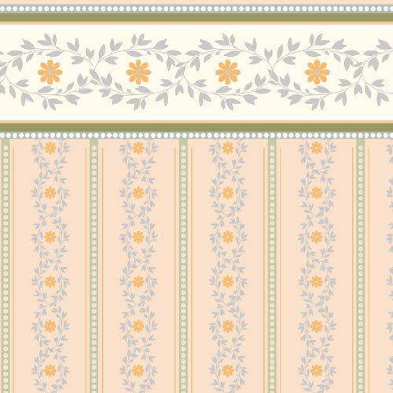 Soft Peach Posy Wallpaper 430 x 600mm