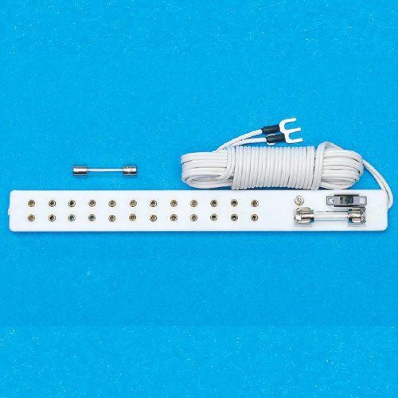 Twelve Light Socket Strip & Test Bulb