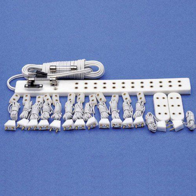 Socket Strip & Connectors 16 Lights