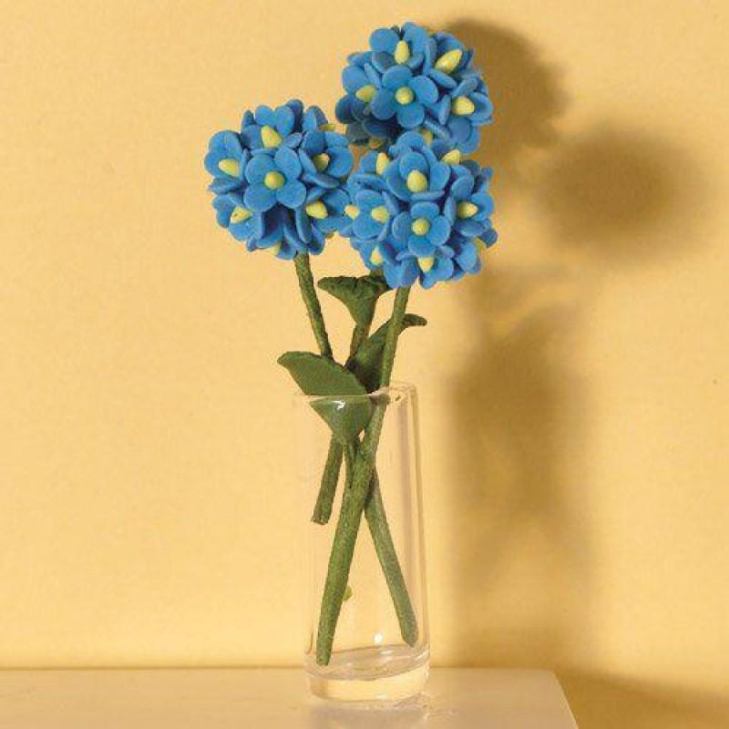 Blue Hydrangeas, 3 pcs 55mm
