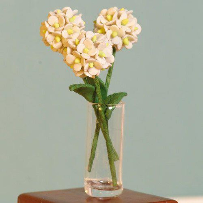 White Hydrangeas, 3 pcs 55mm