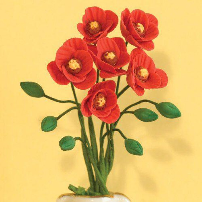 Red Poppies, 6 Pcs