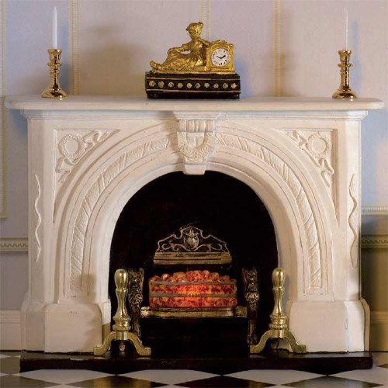 Carved Stone Fireplace (PR)