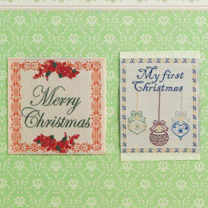 Christmas Sampler Decoration, 2pcs