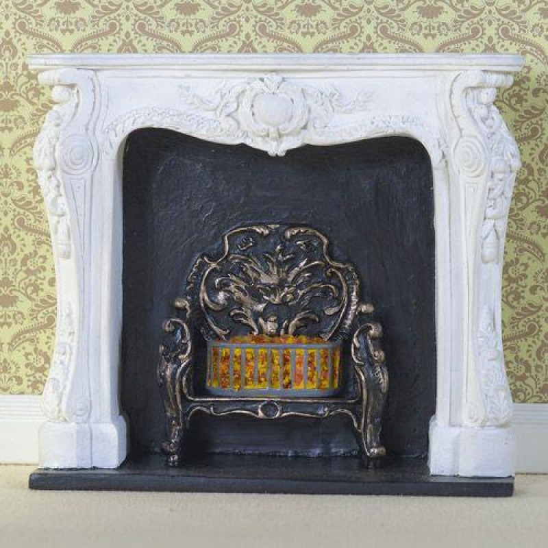 White Rococo-style Fireplace (PR)