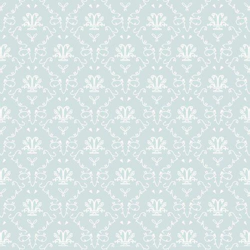 Bleu French Toile Wallpaper 430 x 600mm
