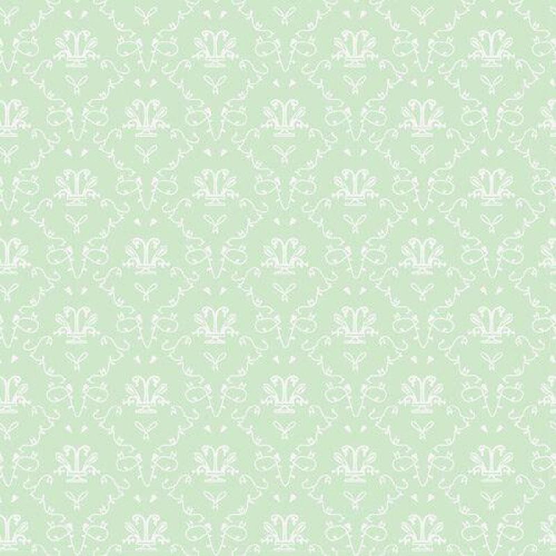 The Dolls House Emporium Vert French Toile Wallpaper