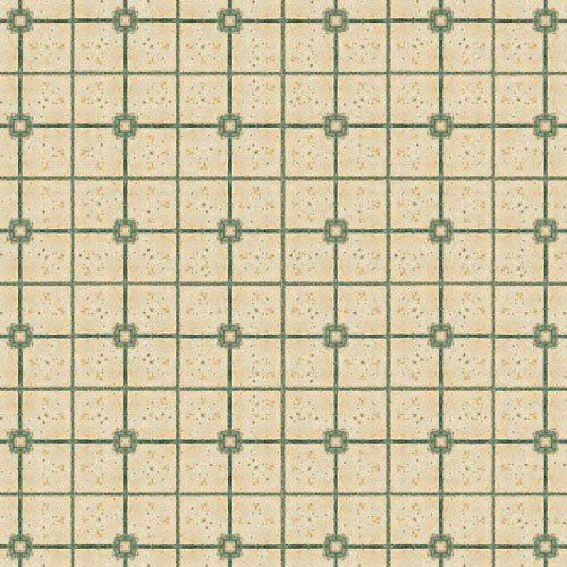 Green & Beige Tile Paper 430 x 600mm