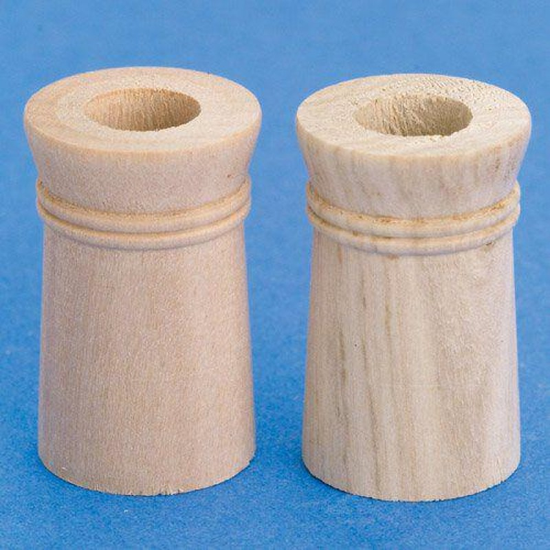 Wooden Chimney Pots, 2 pieces diameter 24mm