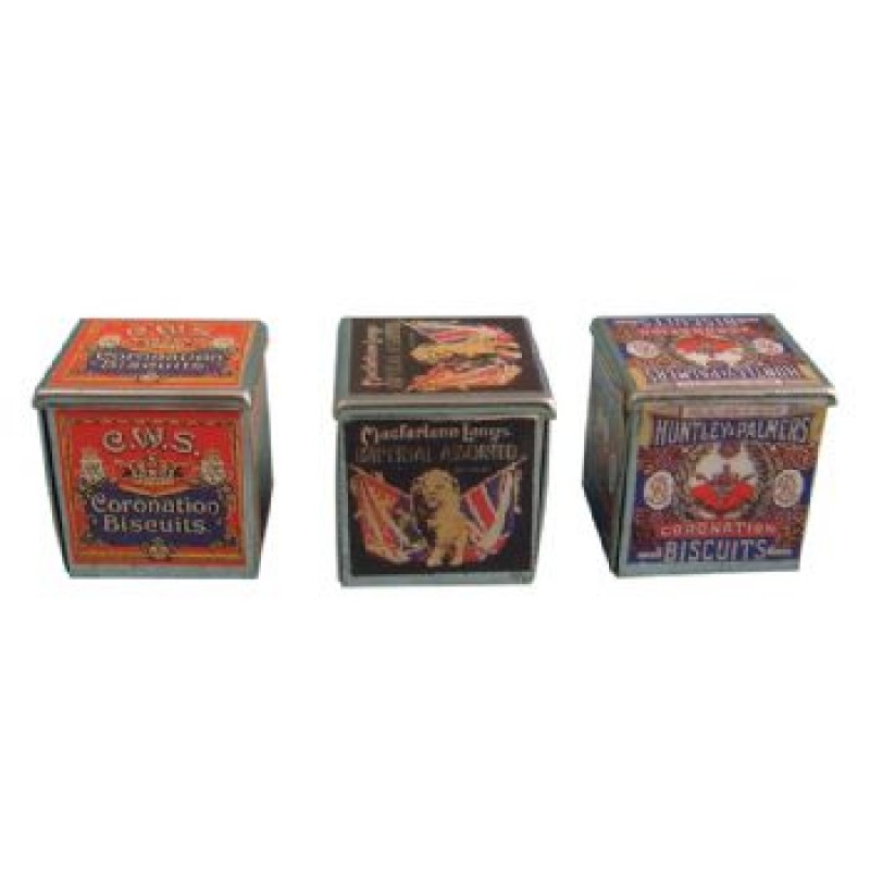 Biscuit Tins, 3 Pieces