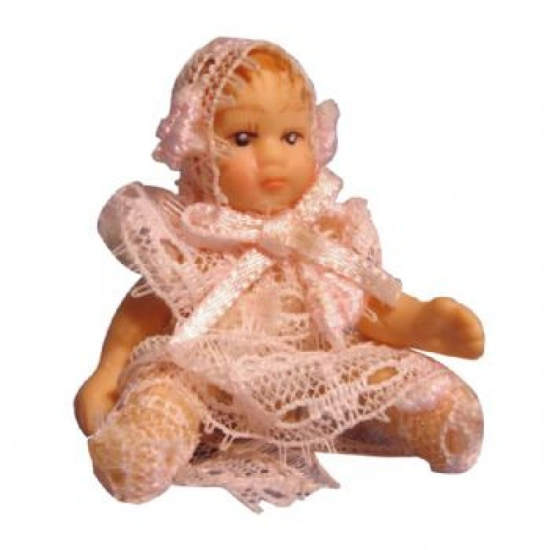 Porcelain Baby Girl Doll