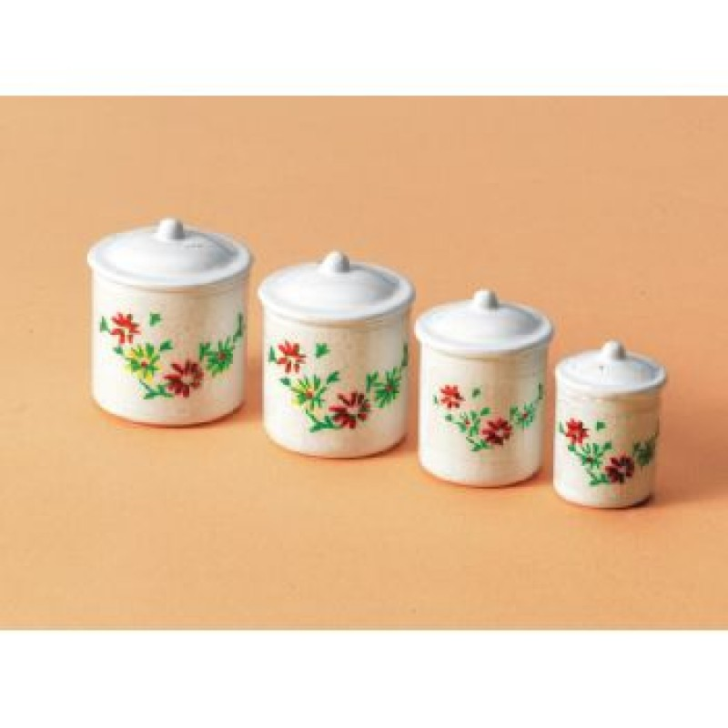 Cannisters, 4 pieces