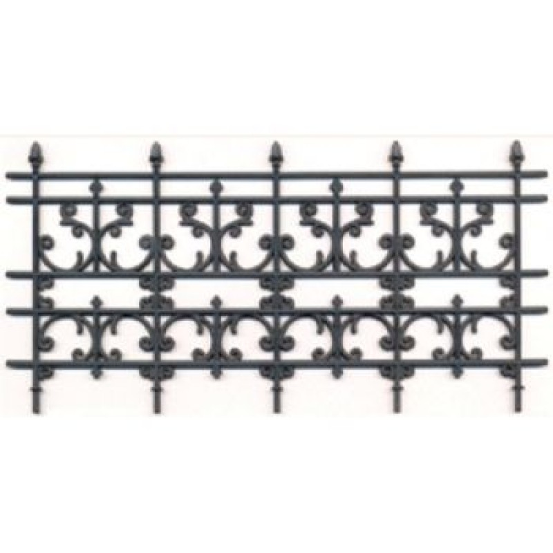 Plastic wrought iron railings