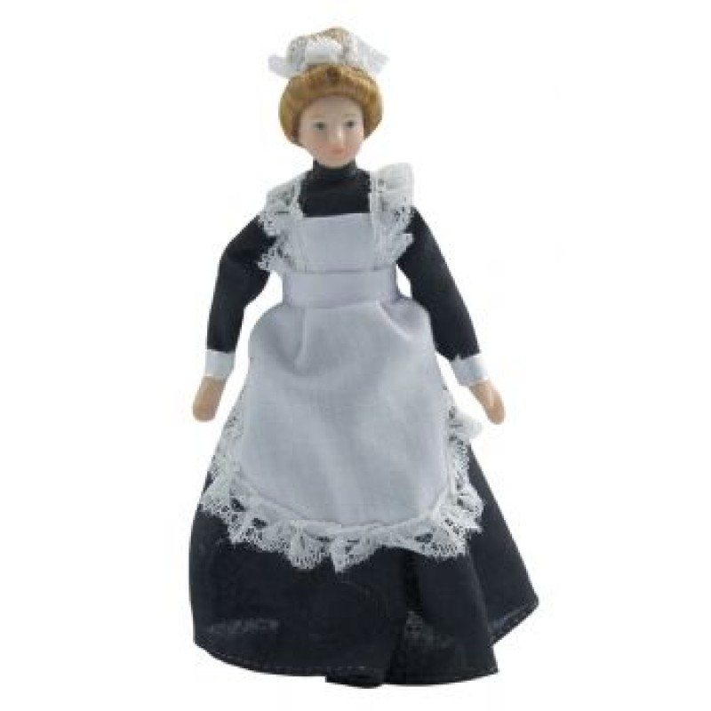 Porcelain Maid in Black Dress