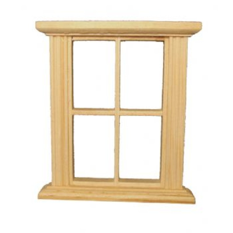 Unpainted 4 Pane Window