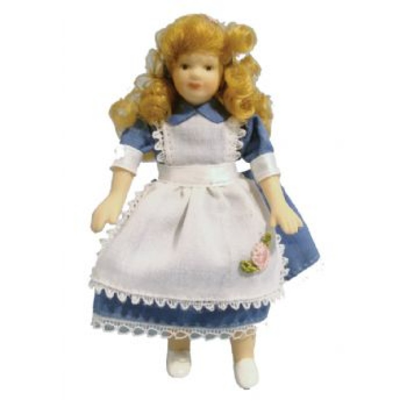 Porcelain Girl in Alice Dress