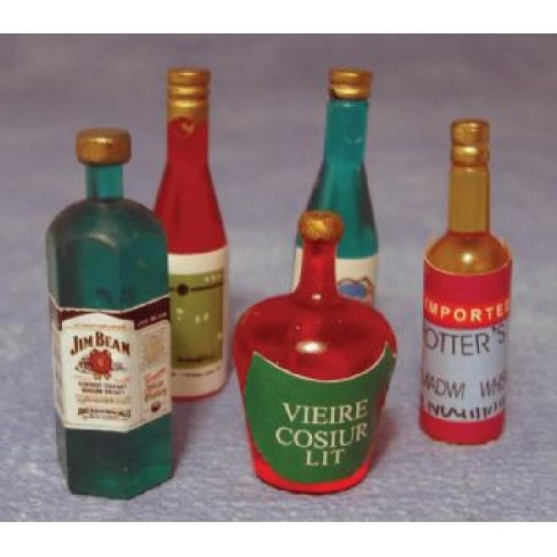 Spirit Bottles, 5 pieces