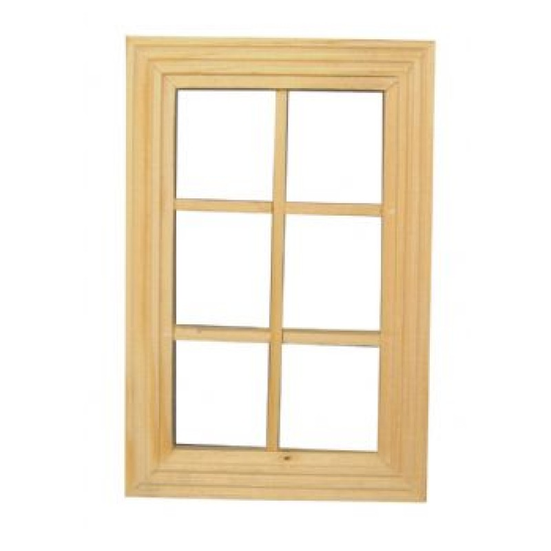 Unpainted 6 Pane Window