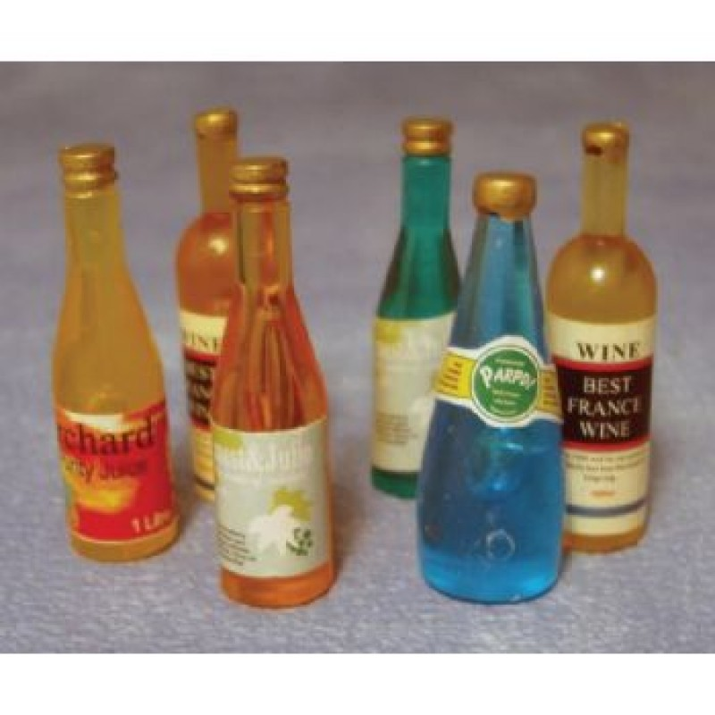 Mixed Wine Bottles, 6 pieces