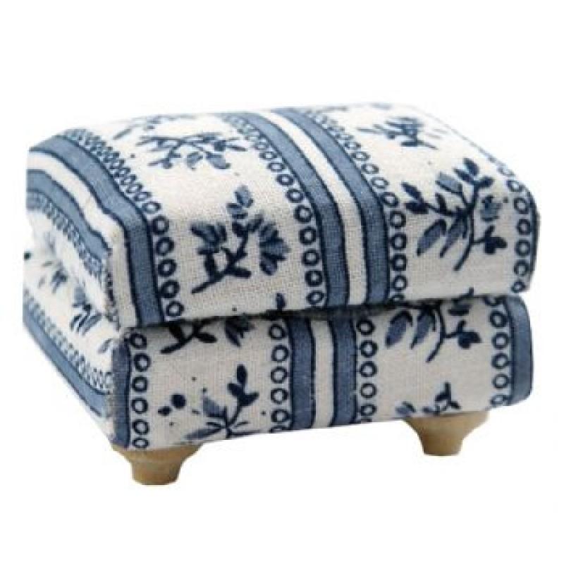 Blue Footstool