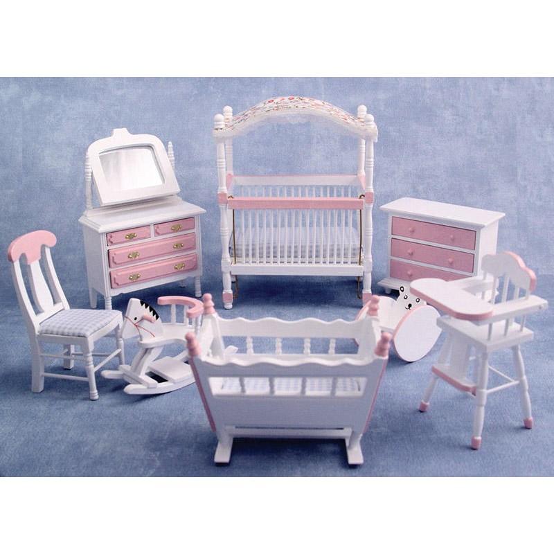 Pink Deluxe Cot Nursery Set