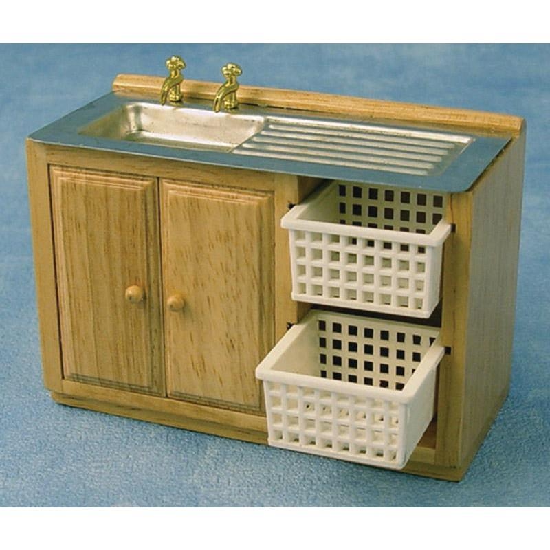 Kitchen sink with basket