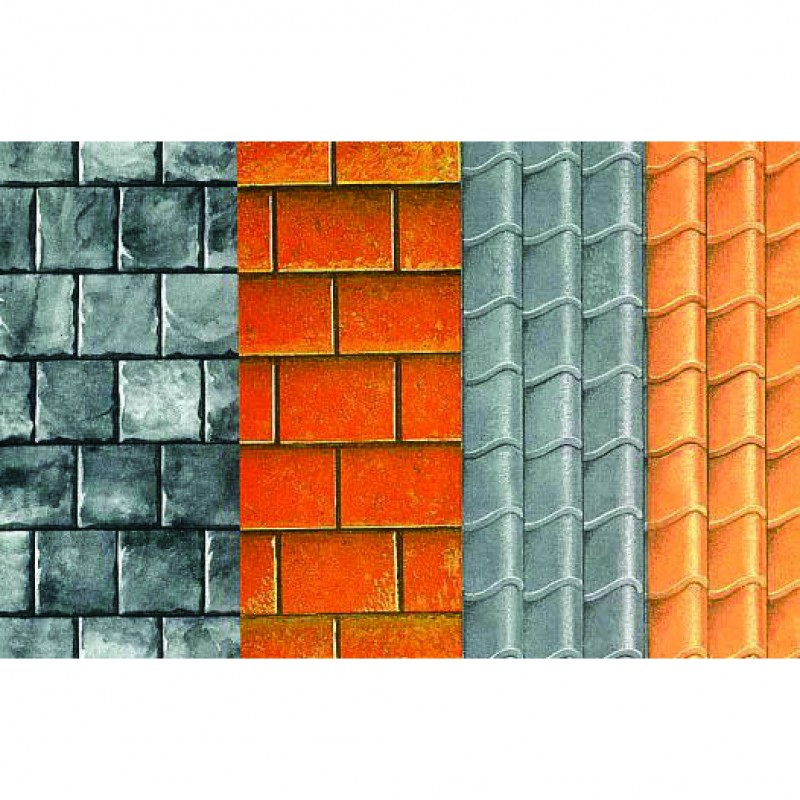 Pantile red roof paper