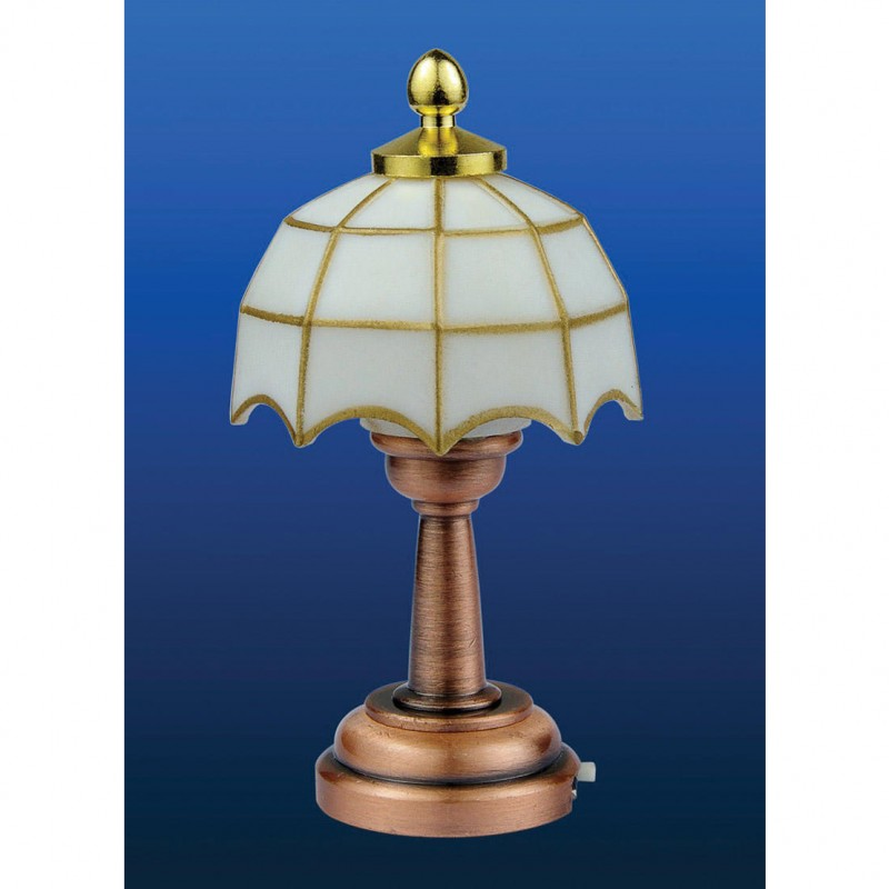 White Tiffany LED Table Lamp