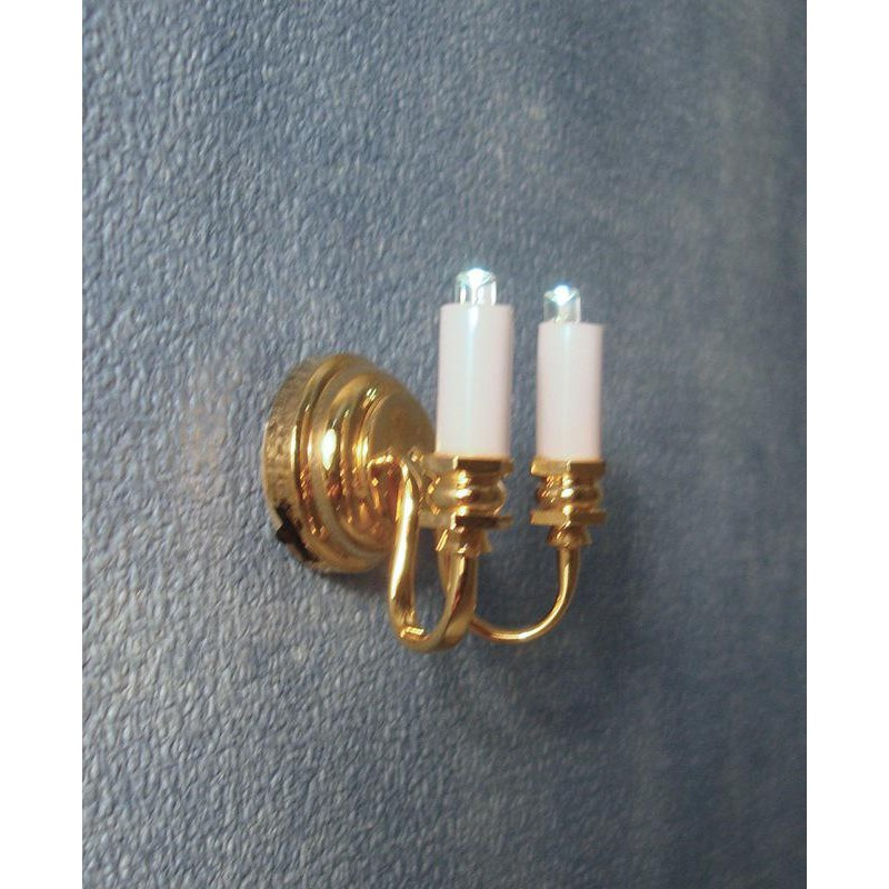Streets Ahead Battery-Powered Double Candle Wall Light