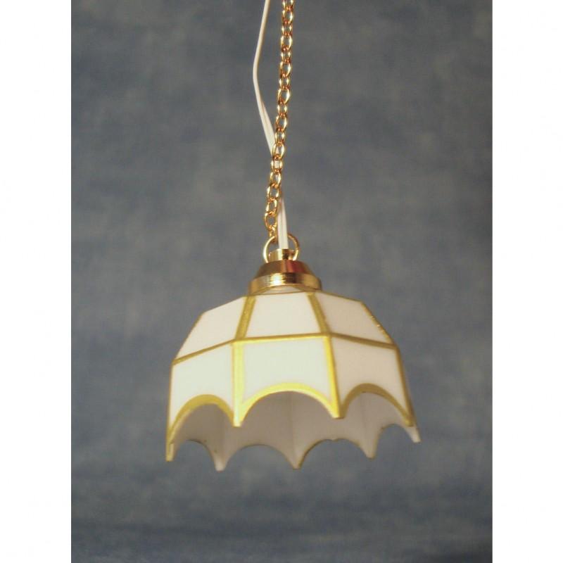 White Tiffany LED Ceiling Light