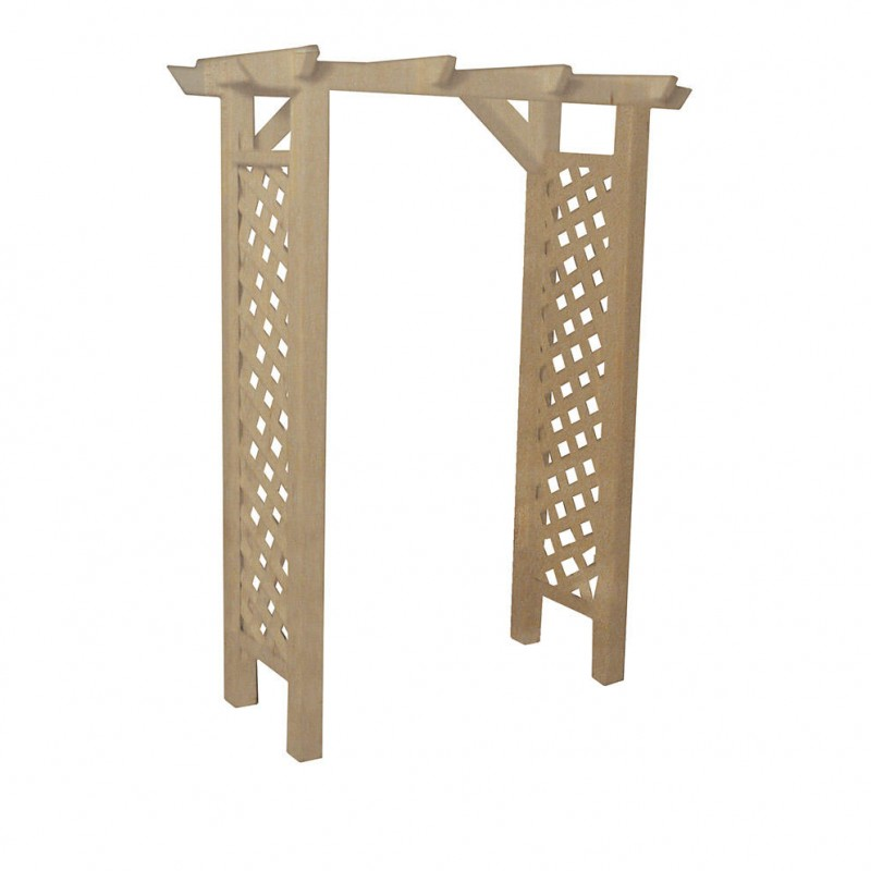 Unfinished Wooden Arbour