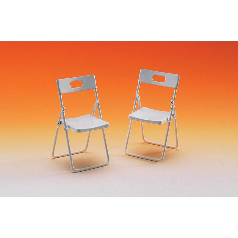 Folding White Chair, 2 pieces