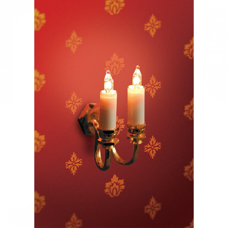 Double Candle Wall Light